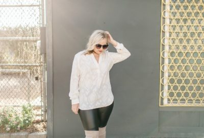 Outfit Post // Ivory + Leather