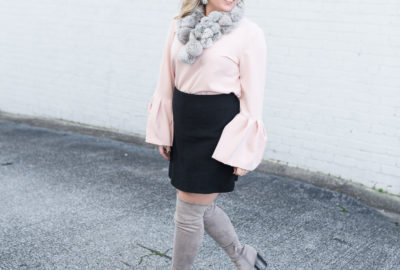Blush And Bell Sleeves