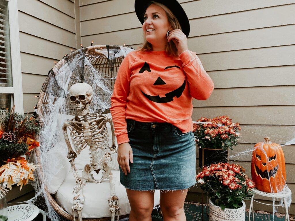 Fall Pumpkin Sweater - Orange