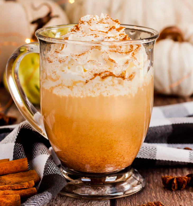 Pumpkin Coffee Drink with Whipped Cream