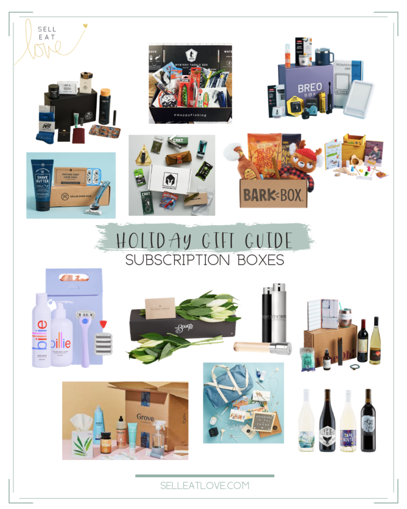 Gifts subscription boxes - collection of various subscription boxes