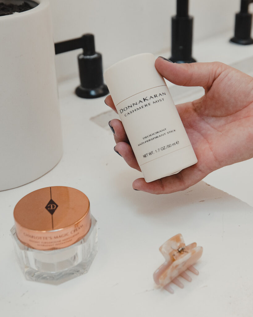 My Favorite Beauty Products- SELL EAT LOVE. Donna Karan Cashmere Mist Deodorant. Smells so good!
