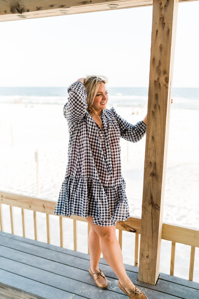 Black and White Gingham Dress and Swimsuit Cover up - Memorial Day Sales