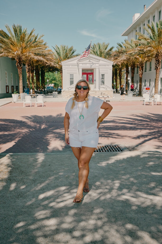 5 Fashion Trends This Summer- White Cut Off Denim Shorts with White Tee