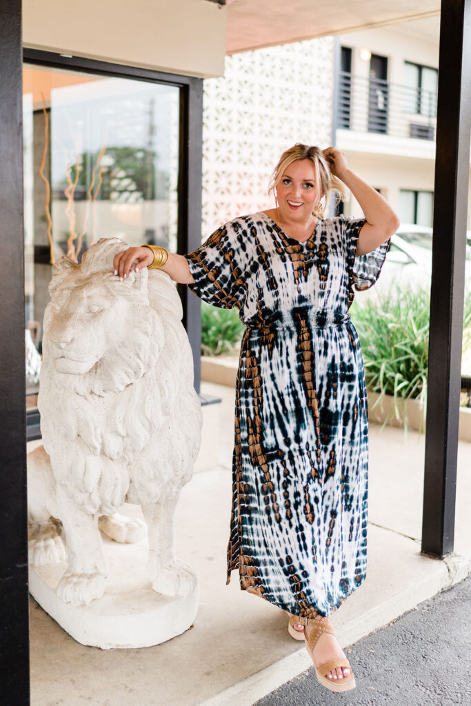 5 Fashion Trends This Summer- Tie Dye Short Sleeve Maxi Dress