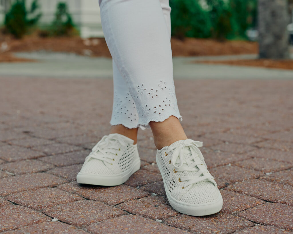White Leather Woven Sneakers. SellEatlove.com