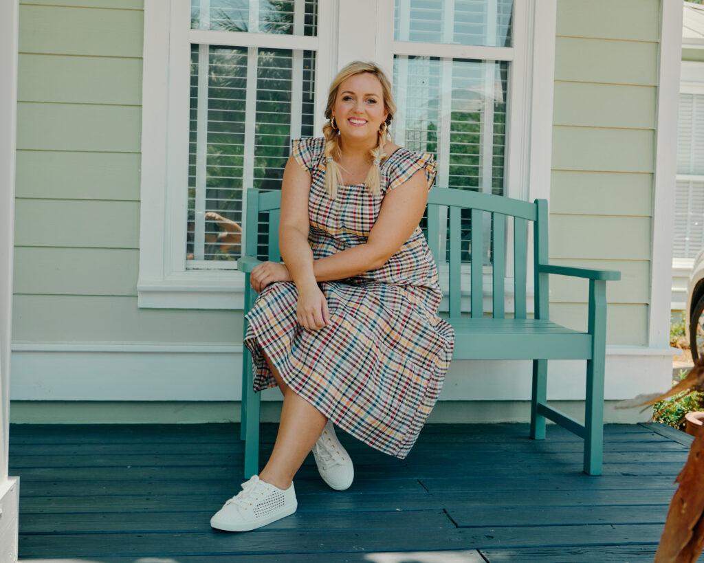 Summer Outfit Ideas - Summer Dress, Plaid Midi Dress From Loft. SellEatLove.com