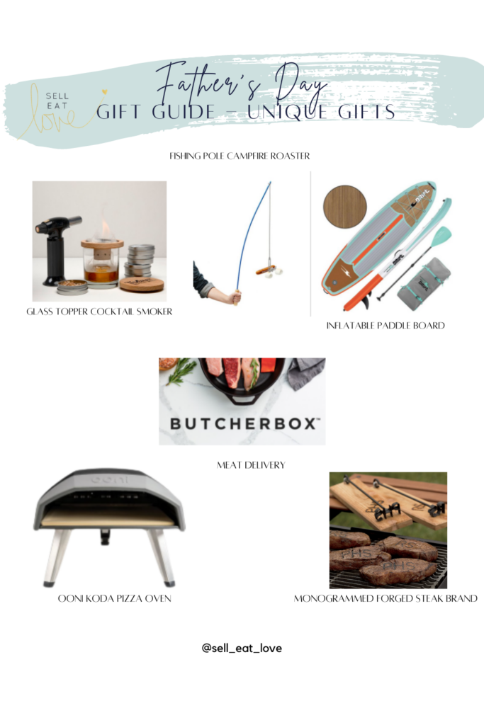 Father's Day Gift Guides - Unique Gift Ideas, Inflatable Paddle Board, Glass Topper Cocktail Smoker, Fishing Pole Campfire Roaster, Butcher Box, Ooni Koda Pizza Oven, Monogrammed Forged Steak Brand