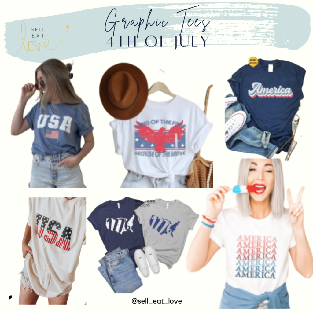 4th of July Graphic Tees