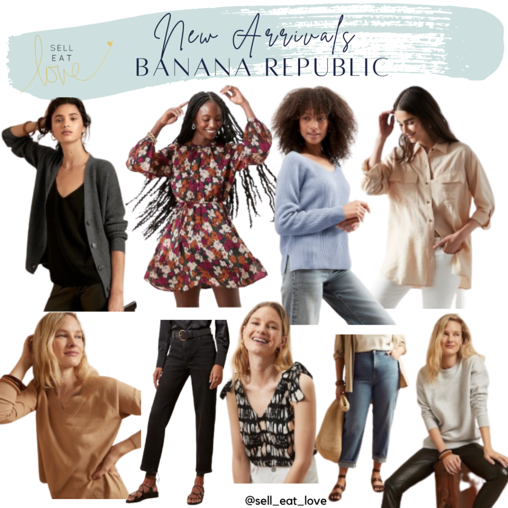Round up of Fall New Arrivals at Banana Republic. SellEatLove.com