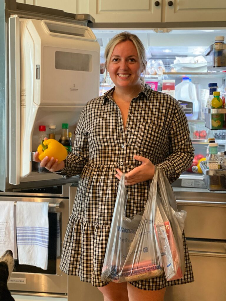Why I got a Walmart+ Membership. Standing in Kitchen with Walmart + Delivery. SellEatLove.com